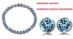 Bild zu [bis 15.05 Uhr] Susan Y Ozean Damen Armband mit Swarovski Steinen für 12,99€ (anstatt 24,99€) als Blitzangebot kaufen + gratis Ohrringe geschenkt bekommen