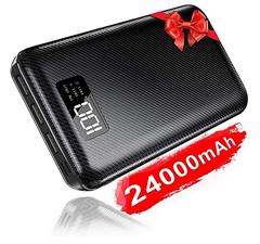 Bild zu KEDRON Powerbank 24000mAh (Externer Akku) mit Dual Input und 3 Ausgängen für 20,01€