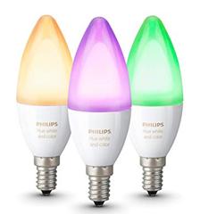 Bild zu Philips Hue White & Color Ambiance 6,5W E14 3er Pack für ~ 82€ inklusive Versand (VG: 112,87€)