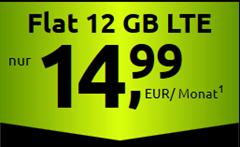 Bild zu [Super – noch bis 17 Uhr] 12GB LTE Datenflat, Sprach & SMS Flat im Telekom Netz ab 14,99€ im Monat – auch als monatlich kündbare Version (+5€/Monat)