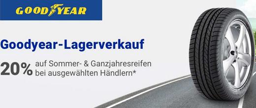Bild zu Rakuten: 20% Rabatt auf Goodyear Reifen + 15% auf alle anderen Reifen