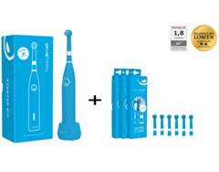 Bild zu Happybrush Blau Elektrische rotierende Akku Zahnbürste + 6x Gratis Ersatzbürsten für 19,99€ (Vergleich: 43,69€)