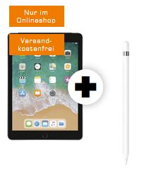 Bild zu APPLE iPad 2018 Wi-Fi + Cellular & Apple Pencil für 79€ mit 10GB o2 Datenflat (Free Tarif, mit 1Mbit nach den 10GB weitersurfen) für 19,99€/Monat