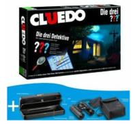 Bild zu Cluedo Die drei ??? Fragezeichen Brettspiel + Kosmos Fernglas & Geheimbox für 34,95€ (Vergleich: 49,94€)