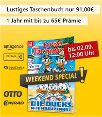 """Bild zu [Super] Jahresabo (13 Ausgaben) """"Lustiges Taschenbuch"""" für 92,50€ + bis zu 75€ Prämie"""