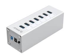 Bild zu ORICO Aluminium USB Hub mit USB 3.0 und 7 Ports für 20,49€