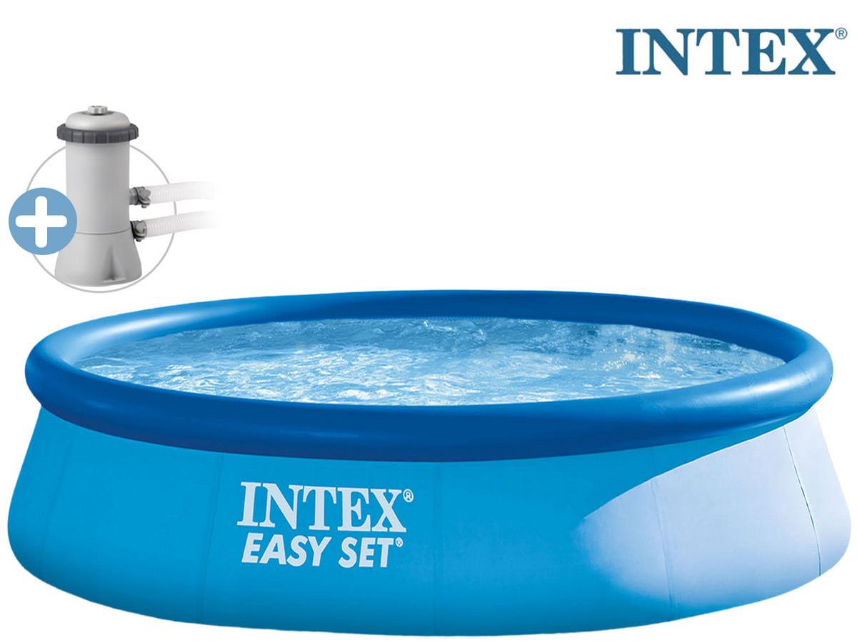Bild zu Intex Easy Pool mit Filterpumpe (396 x 84) für 58,90€ (Vergleich: 79,99€)