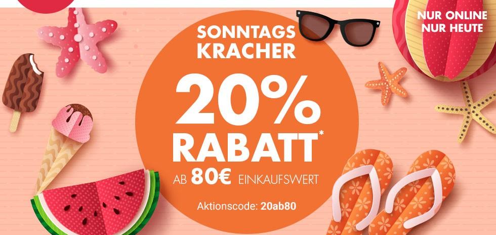 Bild zu Karstadt SonntagsKracher: 20% Rabatt ab 80€ Einkaufswert