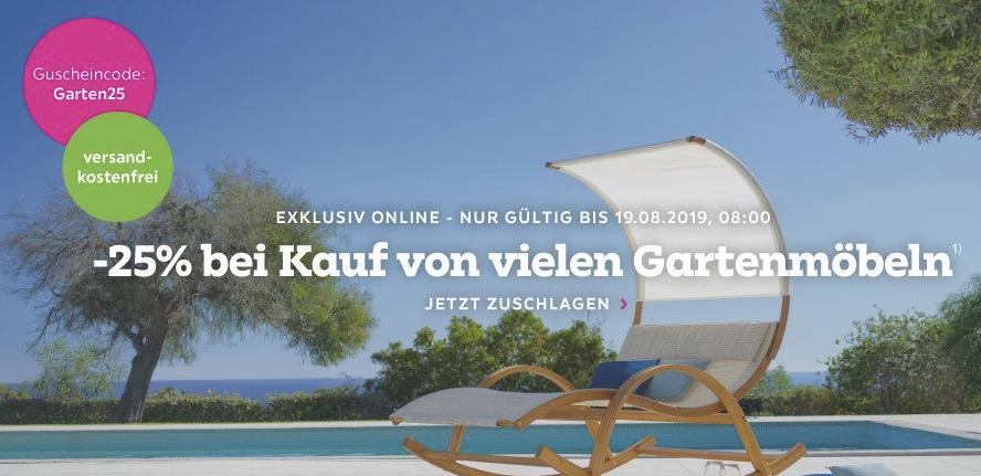 Bild zu Mömax: 25% Rabatt auf viele Exklusiv Online Gartenmöbel + kostenloser Versand