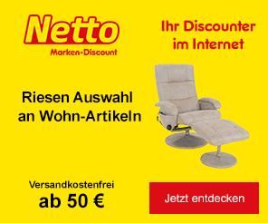 Bild zu Netto: Bis zu 20€ Rabatt auf fast alles (Abhängig vom Bestellwert)