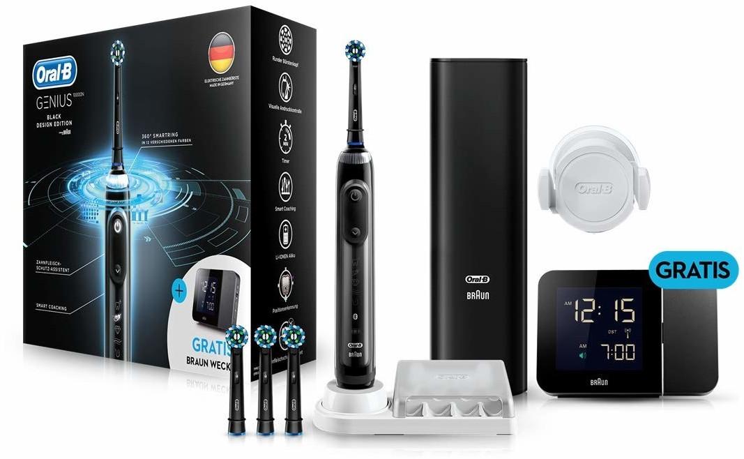 Bild zu Elektrische Zahnbürste Braun Oral-B Genius 10000N Black Edition für 98,91€ (Vergleich: 112,99€)