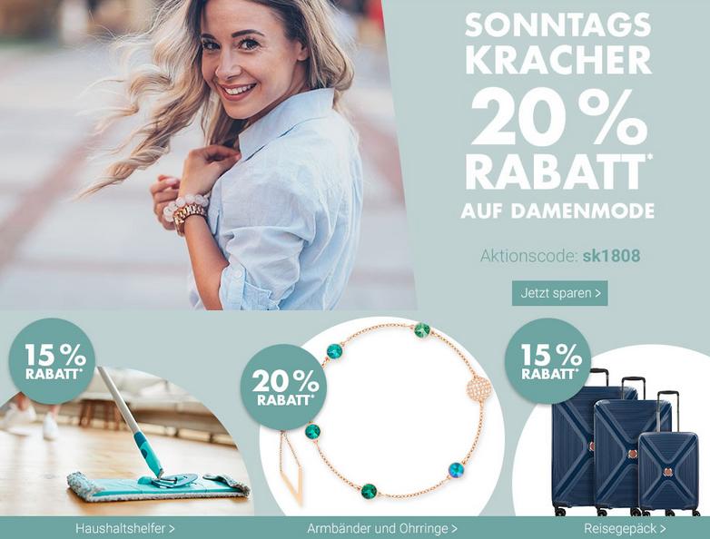 Bild zu Karstadt SonntagsKracher, z.B. 20% Rabatt auf Damenmode