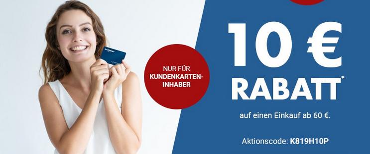 Bild zu Karstadt: 10€ Rabatt ab 60€ Einkaufswert (nur für Kundenkarten-Inhaber)