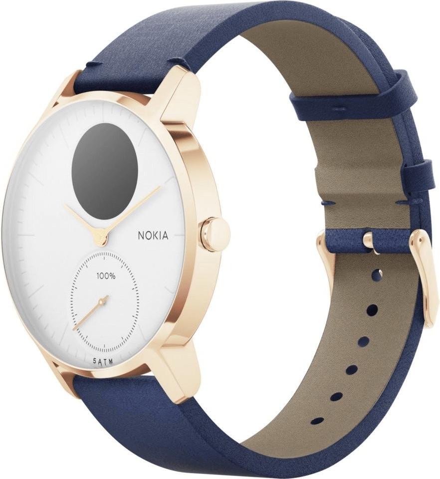 Bild zu Nokia Steel HR Smartwatch 36mm Roségold-blau für 159€ (Vergleich: 190€)