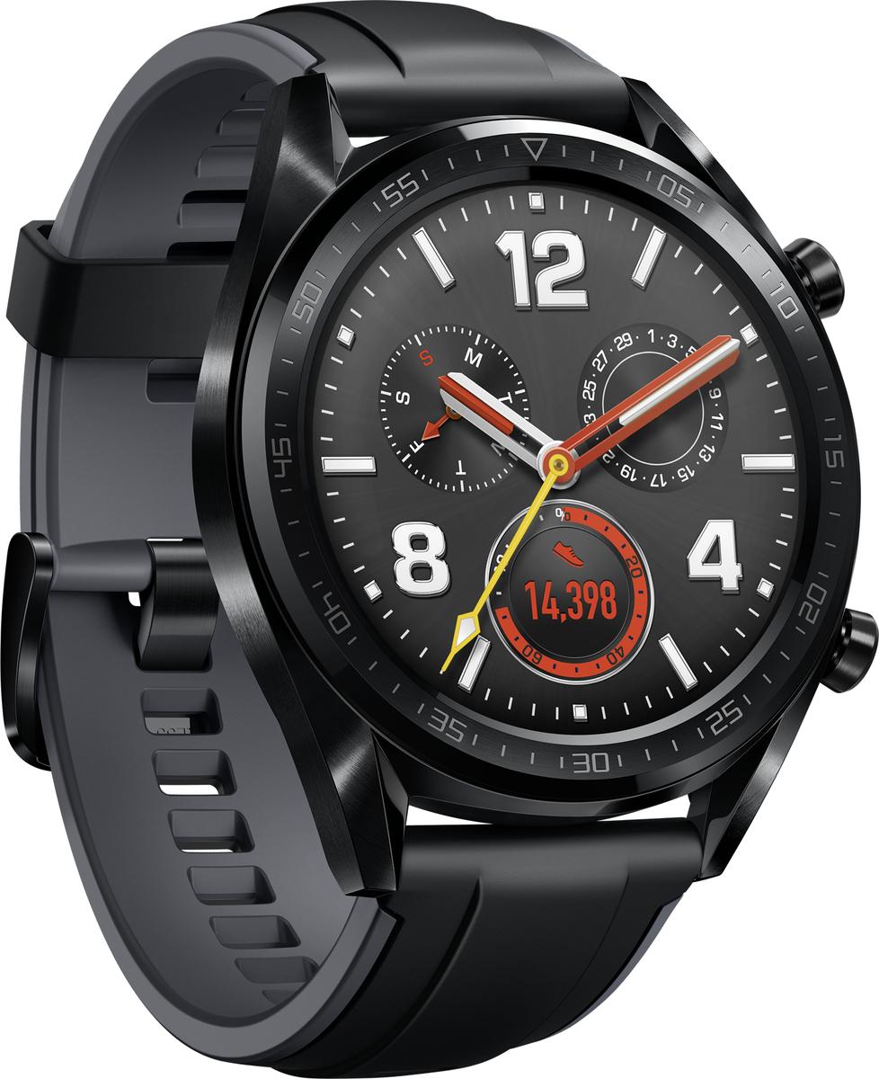 Bild zu [B-Ware] Huawei Watch GT Graphite Black Smartwatch für 93,60€ (Vergleich: 117,79€)