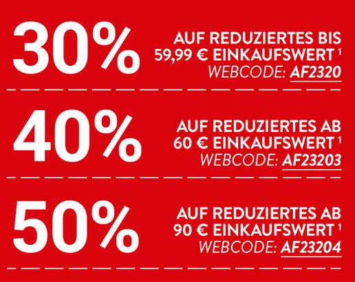 Bild zu Adler Modemärkte: Bis zu 50% Rabatt auf alle reduzierten Artikel im Shop