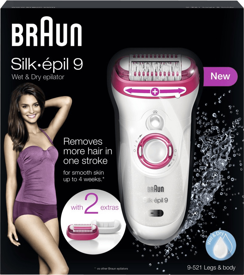 Bild zu Epilierer Braun Silk Epil 9 9521 für 65,90€ (Vergleich: 75,59€)