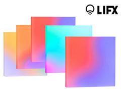 Bild zu LIFX Tile Kit (5 WLAN-fähige LED-Panels, inkl. Stromversorgung) [EEK A+] für 135,90€ (Vergleich: 254,95€)