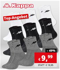 Bild zu 9er Pack Kappa Sportsocken für 9,99€ (Vergleich: 14,90€)