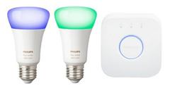 Bild zu Philips Hue White & Color E27 LED Leuchtmittel inkl. Bridge für 79€ (Vergleich: 118,88€)