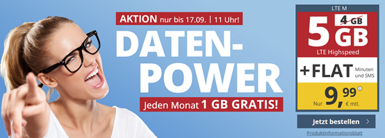 Bild zu PremiumSIM monatlich kündbaren Vertrag im o2-Netz mit 5GB LTE Datenflat, SMS und Sprachflat für 9,99€/Monat