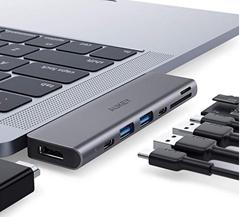 Bild zu AUKEY USB C Hub 7 in 1 Thunderbolt mit 2 USB 3.0 Anschlüssen, SD & MicroSD Kartenleser und 4K HDMI Anschluss für 32,99€