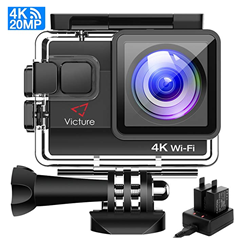 Bild zu Victure AC800 4K Action Cam (WiFi, 20MP, 40M Wasserdicht, 170 ° Ultra-Weitwinkel) für 45,99€