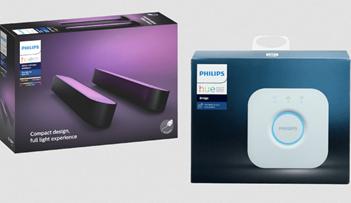 Bild zu Philips Hue Play Lightbar Doppelpack + Hue-Bridge für 100,99€ (Vergleich: 145,77€)