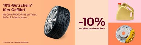 Bild zu eBay: 10% Rabatt auf Autoteile, Reifen & Zubehör