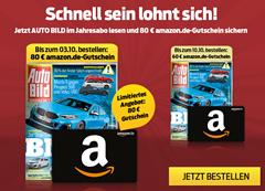 """Bild zu Jahresabo (51 Ausgaben) der Zeitschrift """"Auto Bild"""" für 112,20€ + 80€ Amazon Gutschein"""