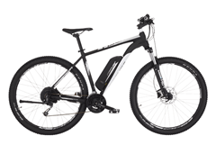 Bild zu FISCHER EM 1724 Mountainbike (29 Zoll, 51 cm, MTB Rahmen, 422 Wh, Signalschwarz matt) für 999€ (Vergleich: 1.189,99€)