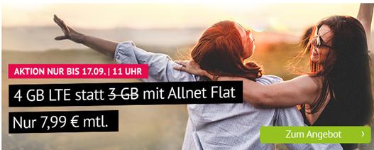 Bild zu Handyvertrag.de: 4GB LTE Datenflat + Allnet Flat im o2 Netz für 7,99€/Monat – monatlich kündbar