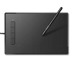 Bild zu INTEY Einsteiger Grafiktablett/Zeichentablett (40 x 29 x 4,8 cm) kabelgebunden für 19,99€