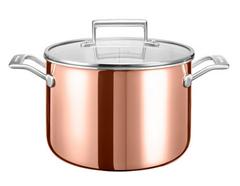 Bild zu KitchenAid Kupfertopf mit Deckel (Ø 24 cm) für 85,90€ (Vergleich: 142€)