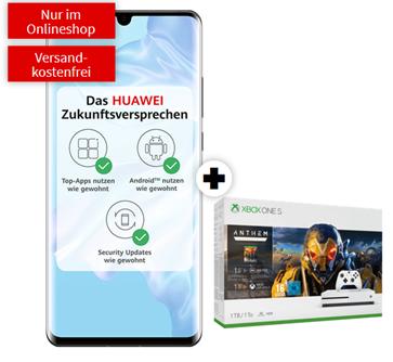 Bild zu Huawei P30 Pro mit Xbox One S 1TB Bundle (Anthem, Fortnite oder The Division 2) für 49€ im Vodafone Netz mit 10GB LTE, SMS und Sprachflat für 31,99€/Monat