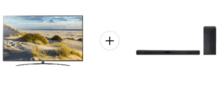 Bild zu LG 82UM7600PLB LED TV (Flat, 82 Zoll/207 cm, UHD 4K, SMART TV, webOS 4.5 (AI ThinQ)) + LG SL4Y Soundbar für 2.229€ (VG: 2.683,88€)