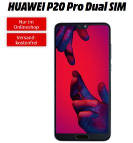 Bild zu [Top] HUAWEI P20 Pro für 79€ (VG: 398,70€) mit 2GB LTE Datenflat und Sprachflat im Telekom-Netz für 11,99€/Monat