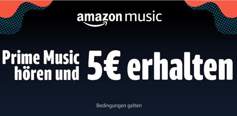 Bild zu Für eingeladene Amazon-Kunden: 30 Sekunden Prime Music hören einen 5€ Gutschein erhalten