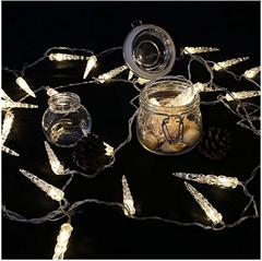 Bild zu LED Lichterkette mit 40 Eiszapfen (IP44) kaltweiß oder warmweiß für je 9,09€