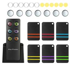 Bild zu Schlüsselfinder mit Fernbedienung, 6 Empfängern sowie Batterien für 16,14€
