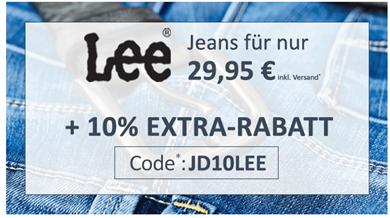 Bild zu Jeans Direct: viele Lee Jeans für je 29,95€ + 10% Extra ab zwei Stück