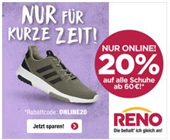 Bild zu Reno: 20% Rabatt auf alle Schuhe (ab 60€ MBW)