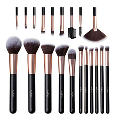 Bild zu Anjou Make-up Pinselset (20 Kosmetikpinsel + Reisetasche) für 11,19€