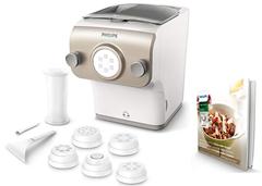 Bild zu Philips HR2381/05 Pastamaker (200 Watt, vollautomatische Nudelmaschine, mit Wiegefunktion und 6 Formscheiben) für 179€ (Vergleich: 209,99€)