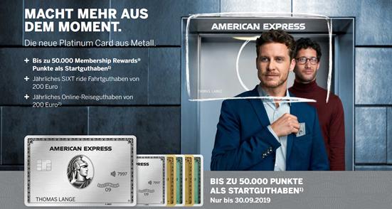 Bild zu [Knaller] American Express Platinum Card (55€/Monat) abschließen und 250€ (50000 Membership Reward Points) + 200€ Reiseguthaben pro Jahr + 200€ Sixt Guthaben erhalten