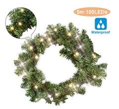 Bild zu Hengda Weihnachtsgirlande 5M mit 100 LEDs warmweiß für 17,49€