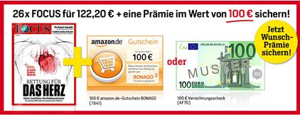 """Bild zu [nur 150x] Halbjahresabo (26 Ausgaben) der Zeitschrift """"FOCUS"""" für 122,20€ + 100€ Verrechnungsscheck als Prämie"""