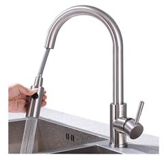 Bild zu HOMELODY 2-Strahl Wasserhahn (ausziehbar) mit Brause für 48,99€