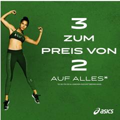 Bild zu ASICS Outlet: 3 für 2 Aktion auf alle Outlet Produkte