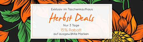 Bild zu Taschenkaufhaus: 15% Rabatt auf ausgewählte Marken (ab 100€ MBW) + 3% Extra Rabatt bei Vorkasse